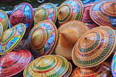 Sombrero del granjero de la pintura Fotografía de archivo