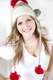 Sombrero del invierno de la muchacha que desgasta adolescente Imagenes de archivo
