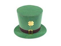 Sombrero del leprechaun del día del St. Patrick Imagenes de archivo
