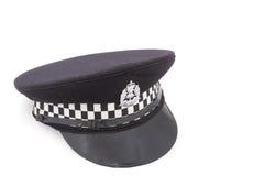 Sombrero del oficial de policía británico Imágenes de archivo libres de regalías