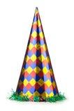 Sombrero del partido aislado en blanco Imágenes de archivo libres de regalías