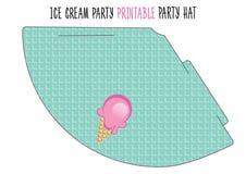 Sombrero del partido Partido del helado Foto de archivo
