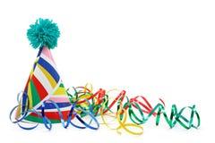 Sombrero del partido y bobinador de cintas en modo continuo de papel Foto de archivo