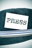 Sombrero del periodista Foto de archivo libre de regalías