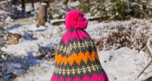 Sombrero del Pom-pom imagen de archivo libre de regalías