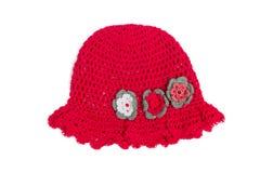 Sombrero del rojo de Beautifull Foto de archivo
