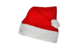 Sombrero del rojo de Santas Fotografía de archivo
