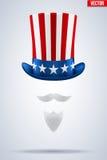 Sombrero del tío Sam Ilustración del vector Fotos de archivo