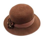 Sombrero del vintage mujer Fotos de archivo libres de regalías