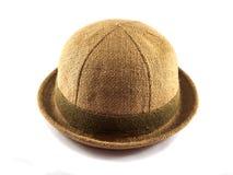 Sombrero del yute de aislado Fotos de archivo libres de regalías