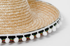 Sombrero. Detail of a sombrero hat on a white background Stock Image