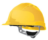 Sombrero duro amarillo Foto de archivo libre de regalías