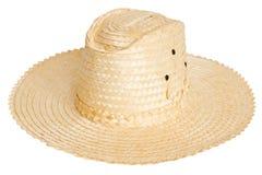 Sombrero en el fondo blanco Fotografía de archivo libre de regalías