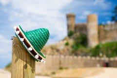 Sombrero espagnol à Tossa de Mar Image stock