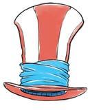 Sombrero feliz stock de ilustración