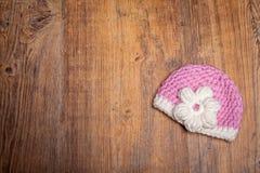 Sombrero femenino del bebé Imagen de archivo libre de regalías