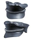 Sombrero femenino del motorista de la diversión Foto de archivo libre de regalías