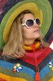 Sombrero girl Stock Image