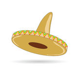 Sombrero hat from mexico vector illustration Stock Image