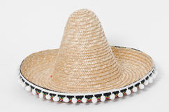 Sombrero. Hat on a white background Royalty Free Stock Photo