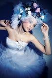Sombrero hecho de flores Imagen de archivo libre de regalías