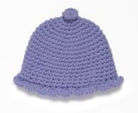 Sombrero hecho a mano azul Imagen de archivo libre de regalías