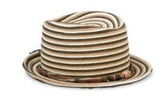 Sombrero hecho punto de las señoras. Imagen de archivo