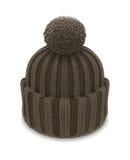Sombrero hecho punto invierno de la burbuja Imágenes de archivo libres de regalías