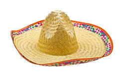 Sombrero isolated on white Stock Images