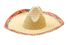 Sombrero isolated on white. Background royalty free stock image