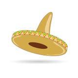 Sombrero kapelusz od Mexico wektoru ilustraci Obraz Stock