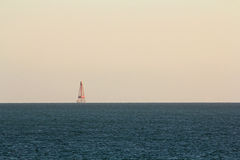 Sombrero Key Light. Distant View of Sombrero Key Light in the Florida Keys Royalty Free Stock Image