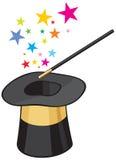 Sombrero mágico Imágenes de archivo libres de regalías