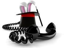 Sombrero mágico con el microteléfono stock de ilustración