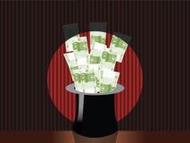 Sombrero mágico del dinero Imágenes de archivo libres de regalías