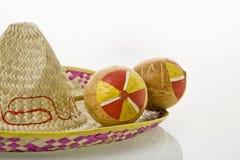 sombrero maracas Стоковые Фото