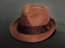 Sombrero marrón con estilo Imágenes de archivo libres de regalías