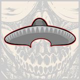 Sombrero - Meksyka?ski kapelusz i w?sy - wektorowa ilustracja royalty ilustracja