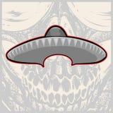 Sombrero - Mexicaanse hoed en snor - vectorillustratie royalty-vrije illustratie