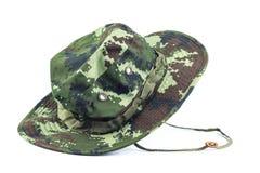 Sombrero militar del estilo. foto de archivo