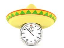 Sombrero mit Stoppuhr vektor abbildung