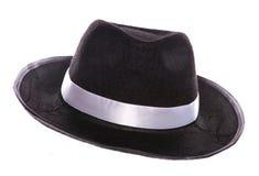 Sombrero negro de la mafia Imagen de archivo
