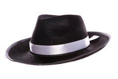 Sombrero negro de la mafia Fotos de archivo