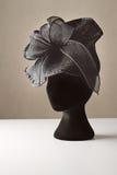 Sombrero negro del accesorio del vestido de las señoras Fotos de archivo