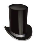 Sombrero negro del cilindro Fotos de archivo