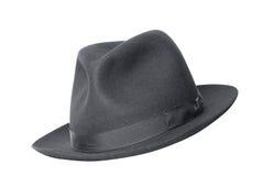 Sombrero negro retro Foto de archivo libre de regalías