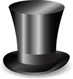 Sombrero negro retro del vector Imagen de archivo libre de regalías