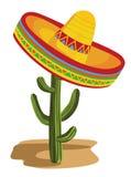 Sombrero no cacto ilustração royalty free
