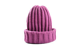 Sombrero púrpura de lana Fotografía de archivo