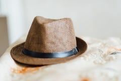 Sombrero para el novio Imagen de archivo libre de regalías